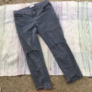 Free People Jeans Womens 30 Destroyed Skinny ankle